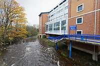 The river Don outside the stadium prior to the Sky Bet Championship match between Sheffield Wednesday and Swansea City at Hillsborough Stadium, Sheffield, England, UK. Saturday 09 November 2019