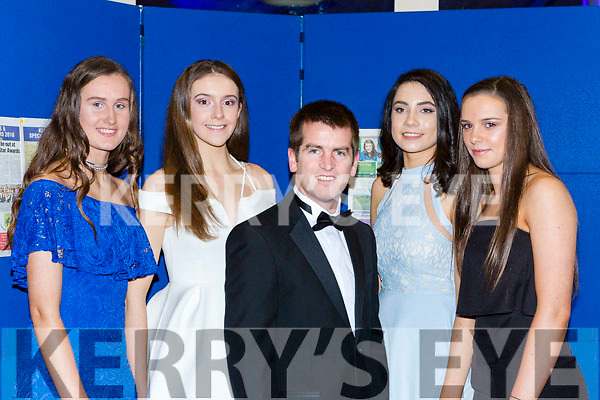 Portmagee rowers were honored for their incredible year at the Kerry Sports Star awards in the INEC on Friday night l-r: Cliona Murphy, Aoife Lynch, David Hussey, Rachel Devane and Sorcha Lynch
