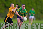 Noel Kennelly(Emmets) and Pat Corridan(Finugue) in O'Sullivan Park last Saturday evening.