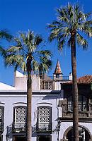 Rathaus an der Plaza Espana, Santa Cruz, La Palma, Kanarische Inseln, Spanien