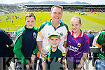 Killian, Darragh, Chris and Caoimhe Donovan (Cahersiveen), who travelled to Killarney to cheer on Kerry at Fitzgerald Stadium on Sunday last.