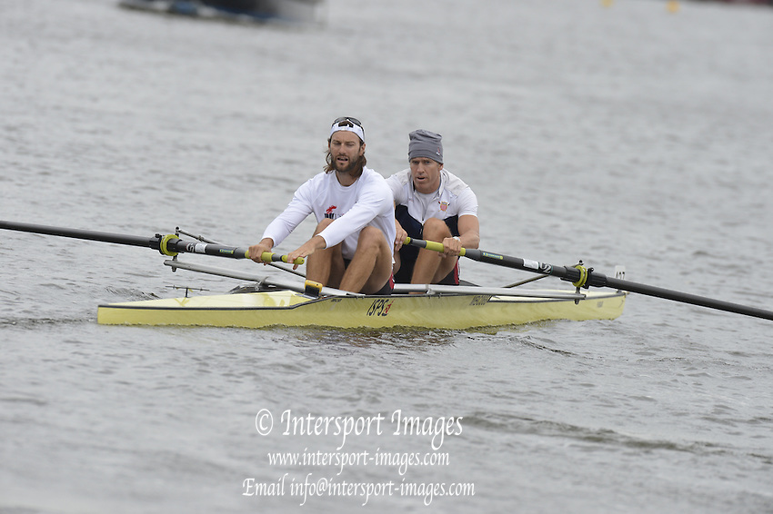 Henley, GREAT BRITAIN,  Silver Goblets and Nickalls' Challenge cup.  USA M2-, Bow Jamie KOVEN and Mike BLOMQUIST.  2012 Henley Royal Regatta. Friday  10:36:06  29/06/2012. [Mandatory Credit, Peter Spurrier/Intersport-images] ..Rowing Courses, Henley Reach, Henley, ENGLAND . HRR.
