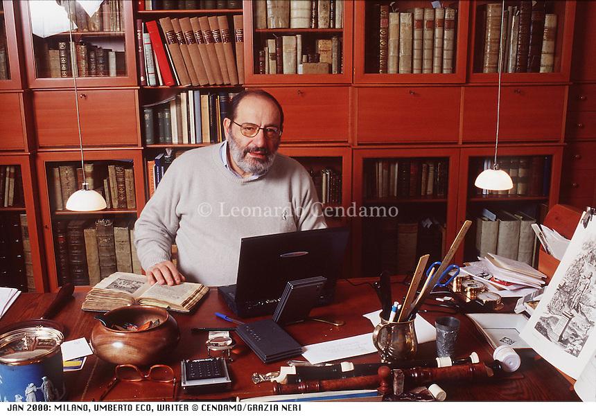 JAN 2000: MILANO, UMBERTO ECO, WRITER © Leonardo Cendamo