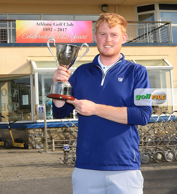 Eanna Griffin (Waterford) winner of the Connacht Stroke Play Championship at Athlone Golf Club Sunday 11th June 2017.<br /> Photo: Golffile / Thos Caffrey.<br /> <br /> All photo usage must carry mandatory copyright credit     (&copy; Golffile | Thos Caffrey)