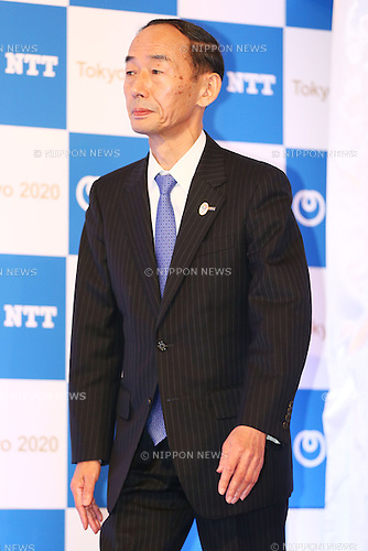 NTTAkira Arima,<br /> JANUARY 26, 2015 : <br /> NTT corporation has Press conference at Hotel Okura Tokyo.<br /> NTT corporation today announced that it has entered into a partnership agreement with the Tokyo Organising Committee of the Olympic and Paralympic Games.<br /> With this agreement, NTT corporation becomes the first gold partner.<br /> (Photo by Shingo Ito/AFLO SPORT)
