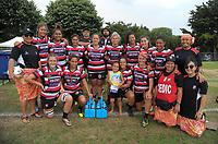 Counties Manukau Women's team on day two of the 2018 Bayleys National Sevens at Rotorua International Stadium in Rotorua, New Zealand on Sunday, 14 January 2018. Photo: Dave Lintott / lintottphoto.co.nz