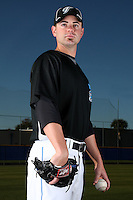 March 1, 2010:  Pitcher Marc Rzepczynski (34) of the Toronto Blue Jays poses for a photo during media day at Englebert Complex in Dunedin, FL.  Photo By Mike Janes/Four Seam Images