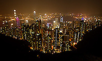 The Hong Kong skyline, as seen from The Peak.