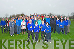 DRIVE: : Club members of Ardfert Golf Club who were watching the Capts of Artdfert Golf Club, on Sunday as they toast to ntheir tee off