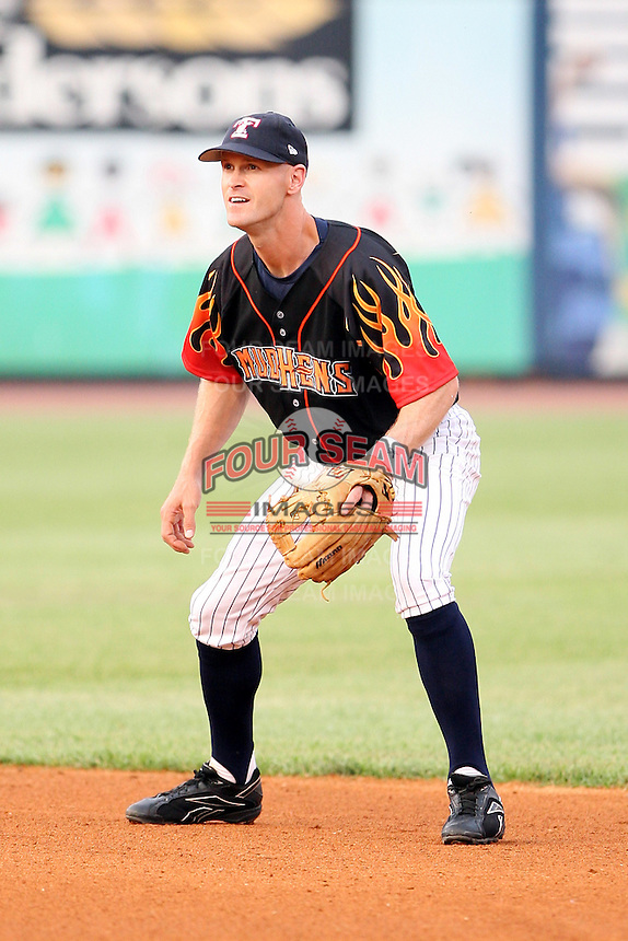 June 12th 2008: Derek Wathan of the Toledo Mudhens, Class-AAA affiliate of the Detroit Tigers, during a game at Fifth Third Field in Toledo, OH.  Photo by:  Mike Janes/Four Seam Images