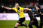 Nederland, Alkmaar, 5 maart 2009..KNVB Beker.Seizoen 2008-2009.AZ-NAC (1-2).Anthony Lurling van NAC juicht na de overwinning op AZ