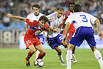 Gatafe's Pedro Leon (l) and Zaragoza's Marco Babic during La Liga match. September 27 2009. (ALTERPHOTOS/Acero).