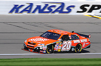 Sept. 27, 2008; Kansas City, KS, USA; Nascar Sprint Cup Series driver Tony Stewart during practice for the Camping World RV 400 at Kansas Speedway. Mandatory Credit: Mark J. Rebilas-