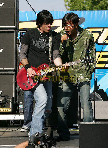 SE BAND.performs live to a sold out crowd at The Reventon Super Estrella held at The Verizon Wireless Ampitheatre in Irvine, California, USA,  June 02 2007..concert live gig on stage music full length band guitar.CAP/DVS.©Debbie VanStory/Capital Pictures