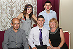 Eoghan Khan with his family at his 21st in The star and Crescent...Picture Jenny Matthews/Newsfile.ie