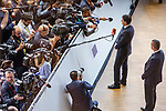 BRUSSELS - BELGIUM - 21 June 2019 -- European Council, summit meeting with heads of state. -- Giuseppe Conte Prime Minister of Italy arriving to the EU-Council, talking to the media. -- PHOTO: Juha ROININEN / EUP-IMAGES