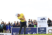 Joakim Lagergren (SWE) tees off the 15th tee during Friday's storm delayed Round 2 of the Andalucia Valderrama Masters 2018 hosted by the Sergio Foundation, held at Real Golf de Valderrama, Sotogrande, San Roque, Spain. 19th October 2018.<br /> Picture: Eoin Clarke | Golffile<br /> <br /> <br /> All photos usage must carry mandatory copyright credit (&copy; Golffile | Eoin Clarke)