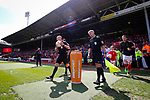 Nottingham Forest 3 Ipswich Town 0, 07/05/2017. City Ground, Championship. Referee Andy Davies removes the ball from the plinth during the game between Nottingham Forest v Ipswich Town at the City Ground Nottingham in the SkyBet Championship. Photo by Paul Thompson.