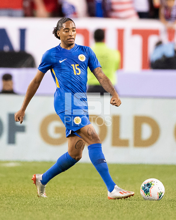PHILADELPHIA, PA - JUNE 30: Shermaine Martina #15 during a game between Curaçao and USMNT at Lincoln Financial Field on June 30, 2019 in Philadelphia, Pennsylvania.