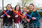 Clodagh Shanahan,Nicole Commerford,Rebecca O'Halloran and Majella Shanahan all from Tralee at the Cycle against suicide Mercy Mounthawk School Welcome on Sunday