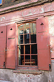 4 Princelet Street,  Spitalfields, London. Window of an early Georgian merchant's house, built 1723 for Ben Truman, a brewer.