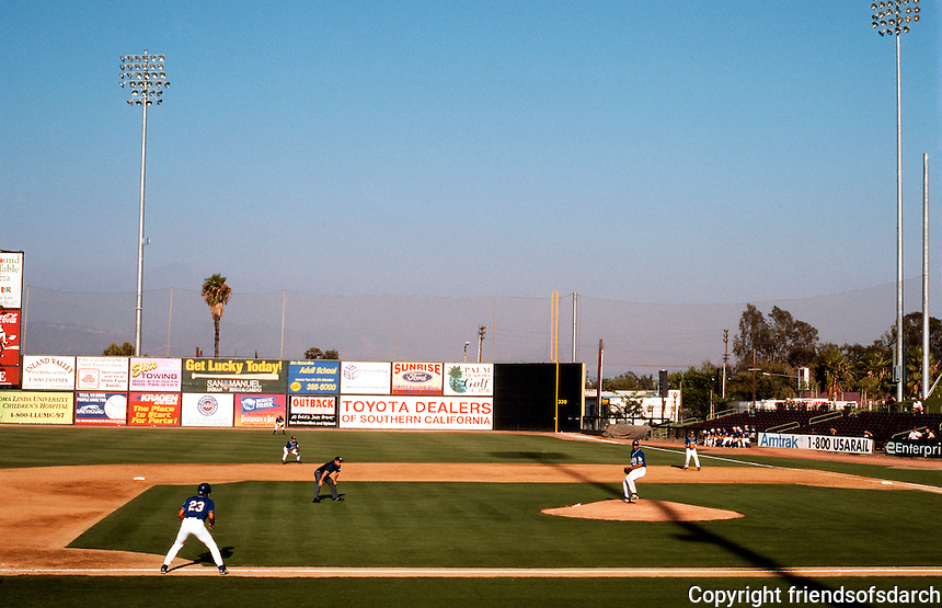 "Ballparks: San Bernardino ""The Ranch"". View of right field."