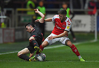 Fleetwood Town's Wes Burns battles with Sunderland's Lewis Morgan<br /> <br /> Photographer Dave Howarth/CameraSport<br /> <br /> The EFL Sky Bet League One - Fleetwood Town v Sunderland - Tuesday 30th April 2019 - Highbury Stadium - Fleetwood<br /> <br /> World Copyright © 2019 CameraSport. All rights reserved. 43 Linden Ave. Countesthorpe. Leicester. England. LE8 5PG - Tel: +44 (0) 116 277 4147 - admin@camerasport.com - www.camerasport.com
