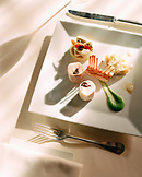 FRANCE, Burgundy, table setting with food, Auberge de la Charme