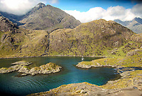 BNPS.co.uk (01202 558833)<br /> Pic: GeoffAllan/BNPS<br /> <br /> Isle of Skye.<br /> <br /> Wilderness walks - new book takes you down paths less travelled in the beautiful Scottish highlands.<br /> <br /> The stunning photos reveal Scotland's best remote walks, and also provide a rudimentary roof over your head at the end of the day. <br /> <br /> Geoff Allan has spent over 30 years travelling the length and breadth of the scenic country, passing through idyllic and untouched landscapes.<br /> <br /> The routes he has selected feature secret beaches, secluded glens, hidden caves and mountains.<br /> <br /> They also include bothies - remote mountain huts - which provide overnight shelter in the wilderness.<br /> <br /> Geoff has listed his top 28 trails complete with GPS maps and descriptions in his book Scottish Bothy Walks.