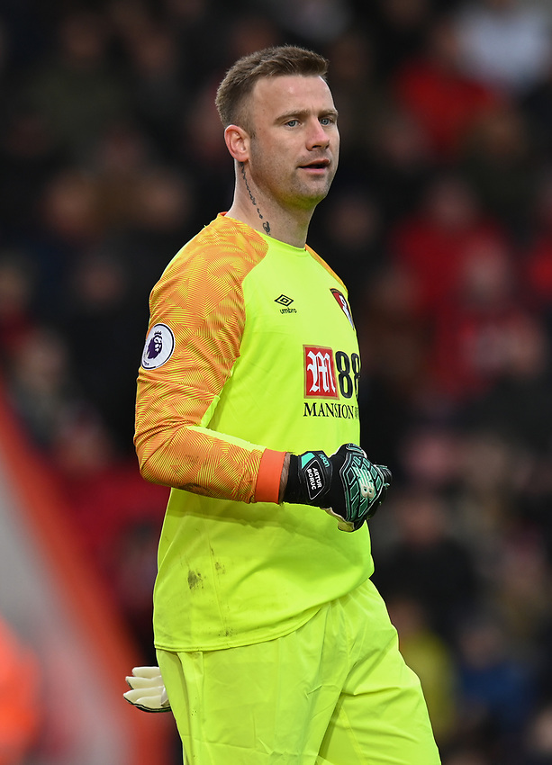 Bournemouth's Artur Boruc<br /> <br /> Photographer David Horton/CameraSport<br /> <br /> The Premier League - Bournemouth v Newcastle United - Saturday 16th March 2019 - Vitality Stadium - Bournemouth<br /> <br /> World Copyright © 2019 CameraSport. All rights reserved. 43 Linden Ave. Countesthorpe. Leicester. England. LE8 5PG - Tel: +44 (0) 116 277 4147 - admin@camerasport.com - www.camerasport.com