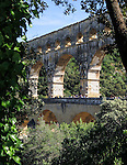 VMI Vincentian Heritage Tour: Members of the Vincentian Mission Institute cohort visit the Pont du Gard aqueduct, an ancient Roman waterway that crosses the Gardon River in southern France, Monday, June 27, 2016. (DePaul University/Jamie Moncrief)