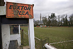 Euxton Villa 1 Haslingden St. Mary's 1, 13/02/2010. Jim Fowler Memorial Ground, West Lancashire Football League. A disused dugout pictured as Euxton Villa take on visitors Haslingden St. Mary's in a West Lancashire Football League fixture at the Jim Fowler Memorial ground in Euxton, near Chorley. The game ended in a one-all draw. The league was formed in 1904, although 1905-06 was the first season and sits at step seven of the pyramid system. Photo by Colin McPherson.
