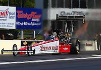 May 14, 2016; Commerce, GA, USA; NHRA top fuel driver Kyle Wurtzel during qualifying for the Southern Nationals at Atlanta Dragway. Mandatory Credit: Mark J. Rebilas-USA TODAY Sports