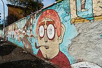 Artist Agostino Iacurci <br /> Title La Conquista dello Spazio . The conquest of space<br /> Quartiere / District  Ostiense <br /> Roma 10-11-2015 Street Art a Roma. <br /> Street Art in Rome. <br /> Foto Andrea Staccioli / Insidefoto