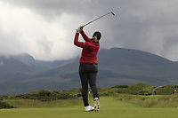 Amelia Garvey (NZL) on the 4th tee during the Matchplay Final of the Women's Amateur Championship at Royal County Down Golf Club in Newcastle Co. Down on Saturday 15th June 2019.<br /> Picture:  Thos Caffrey / www.golffile.ie<br /> <br /> All photos usage must carry mandatory copyright credit (© Golffile | Thos Caffrey)