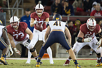 STANFORD, CA - November 18, 2017: Jesse Burkett, Ryan Burns at Stanford Stadium. The Stanford Cardinal defeated Cal 17-14 to win its eighth straight Big Game.