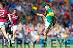 Michael Geaney Kerry in action against Eoghan Kerin Galway in the All Ireland Senior Football Quarter Final at Croke Park on Sunday.