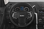 Car pictures of steering wheel view of a 2015 Isuzu D-Max L+ 4 Door Pickup 2WD Steering Wheel