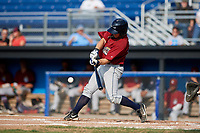 Mahoning Valley Scrappers shortstop Jesse Berardi (22) grounds out during the first game of a doubleheader against the Batavia Muckdogs on August 28, 2017 at Dwyer Stadium in Batavia, New York.  Mahoning Valley defeated Batavia 6-3.  (Mike Janes/Four Seam Images)