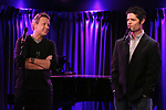 "John Logan and Tom Kitt during the Sneak Peak Presentation of the World Premiere Musical ""Superhero"" on January 16, 2019 at the Green Room 42 in New York City."