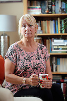 Sharon Thomas at her home in St Clears, Carmarthenshire