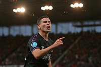 Josh Cullen of Charlton disagrees with a linesman decision during Stoke City vs Charlton Athletic, Sky Bet EFL Championship Football at the bet365 Stadium on 8th February 2020