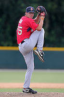 Boston Red Sox pitcher Zachary Good #75 during an Instructional League game against the Baltimore Orioles at Buck O'Neil Complex in Sarasota, Florida;  October 6, 2011.  (Mike Janes/Four Seam Images)