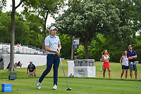 Matt Fitzpatrick (ENG) watches his tee shot on 3 during round 4 of the 2019 Charles Schwab Challenge, Colonial Country Club, Ft. Worth, Texas,  USA. 5/26/2019.<br /> Picture: Golffile | Ken Murray<br /> <br /> All photo usage must carry mandatory copyright credit (© Golffile | Ken Murray)