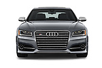 Car photography straight front view of a 2018 Audi S8 Plus quattro Tiptronic 4 Door Sedan