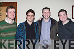 Diarmuid Griffin Fossa, Padraig Daly Muckross, Padraig Creedon Glenflesk and Matt Griffin Dingle in the Stephen Carroll memorial concert in aid of South Kerry MS at the Gleneagle Hotel on Thursday