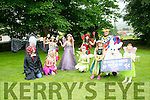Launching the Kilflynn Enchanted Fairy Festival on the 25th and 26th June  from 12noon were front l-r  Shona O'Sullivan, The Bunny, Hannah O'Connell, Dragon, Wizard, Clara The Courage Fairy, Ruby The Rainbow Fairy, Lilly The Lavender Fairy, Smiling The Tooth Fairy, Tinkerbell and Pat Lynch.