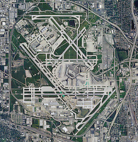 aerial photo map of Chicago O'Hare International Airport ORD