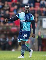 Adebayo Akinfenwa of Wycombe Wanderers during the Sky Bet League 2 match between Leyton Orient and Wycombe Wanderers at the Matchroom Stadium, London, England on 1 April 2017. Photo by Andy Rowland.