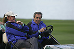 Team Captain Seve Ballesteros with Miguel Angel Jiminez  have a laugh whilst watching the action on the final hole during the first round of the Seve Trophy at The Heritage Golf Resort, Killenard,Co.Laois, Ireland 27th September 2007 (Photo by Eoin Clarke/GOLFFILE)